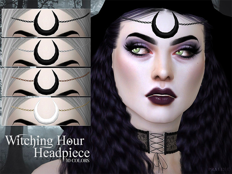 Witching Hour Headpiece Sims 4 CC
