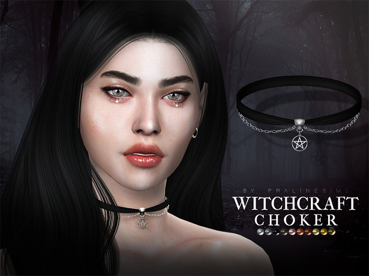 Witchcraft Choker CC for Sims 4