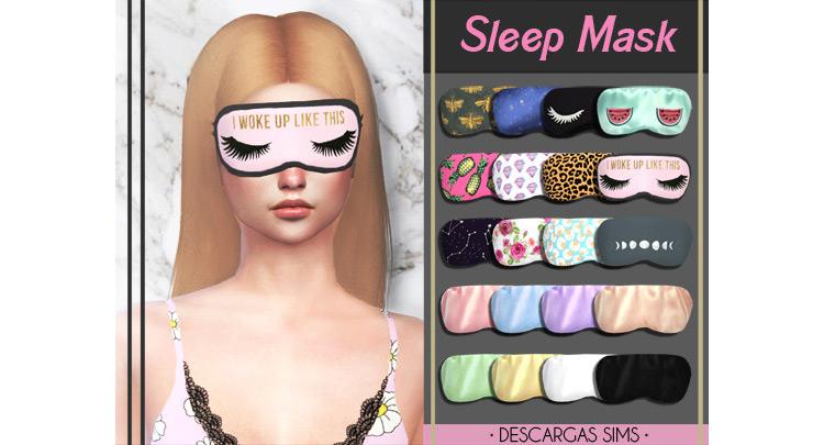 Sleep Mask by Descargas Sims 4 CC