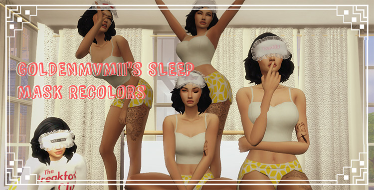 Sleep Mask Recolors for Sims 4