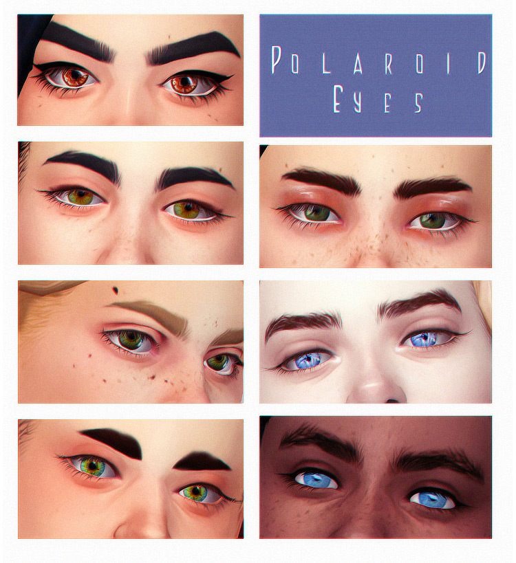 Polaroid Eyes by Acab Sims 4 CC