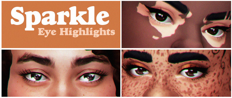 Sparkly Eye Highlights by Acab for Sims 4
