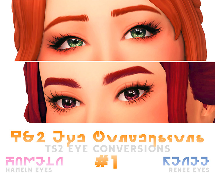 Hameln & Renee Eyes by Mei Sims 4 CC
