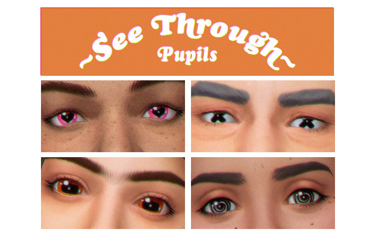 See-Through Pupils by Simulation Cowboy Sims 4 CC