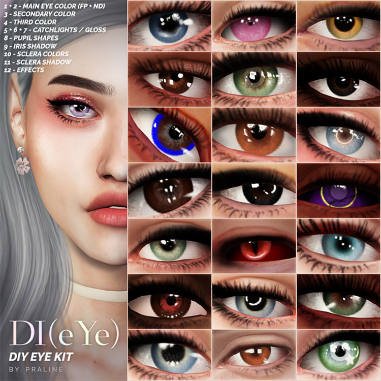 DI(eye) – DIY Eye Kit by Pralinesims Sims 4 CC