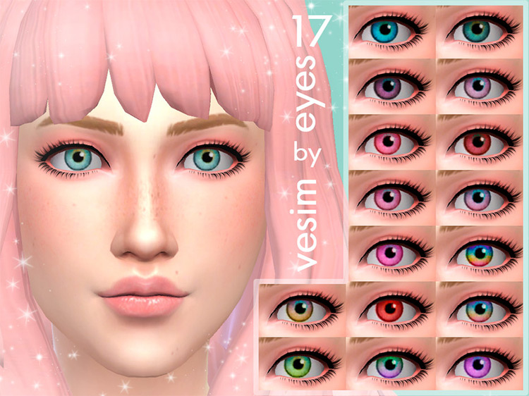 17 Eyes Non Default by vesim Sims 4 CC screenshot