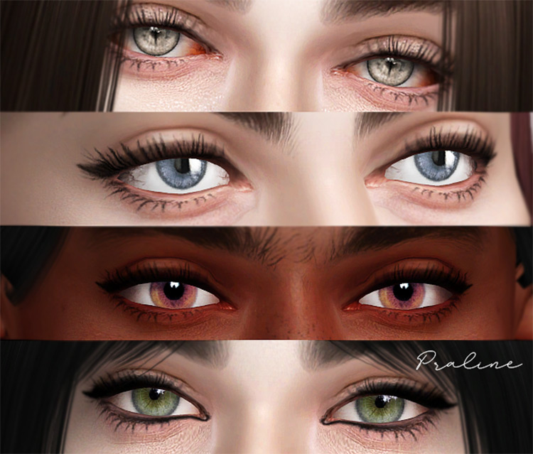 EYES Ultimate Collection by Pralinesims Sims 4 CC