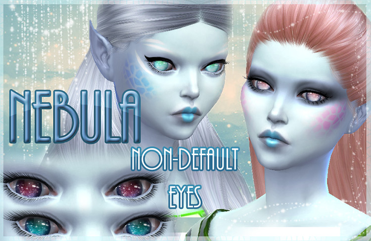Nebula – 10 Non-Default Alien Eyes by kellyhb5 TS4 CC