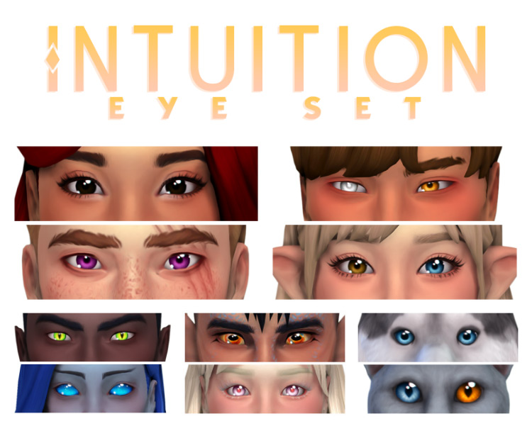 Intuition Eye Set by Simandy for Sims 4