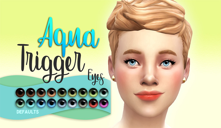 Aqua Trigger Eyes by Miss Ruby Bird Sims 4 CC