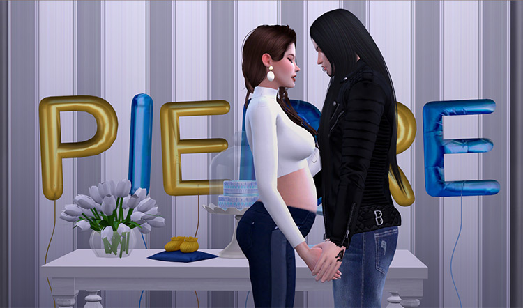 Baby Shower Pose Pack Sims 4 CC
