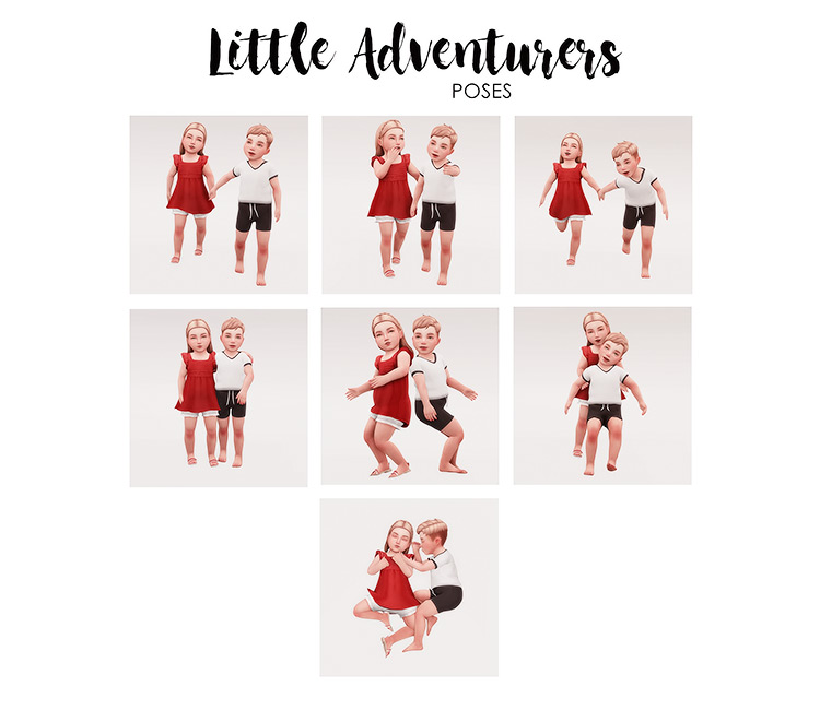 Little Adventurers Poses Sims 4 CC