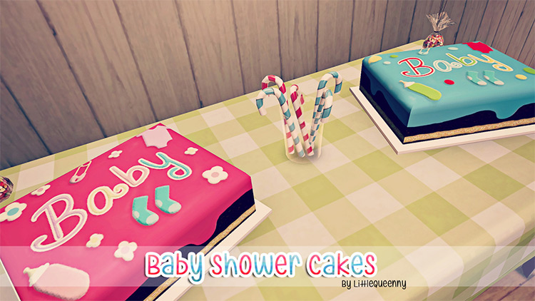 Baby Shower Cakes Sims 4 CC