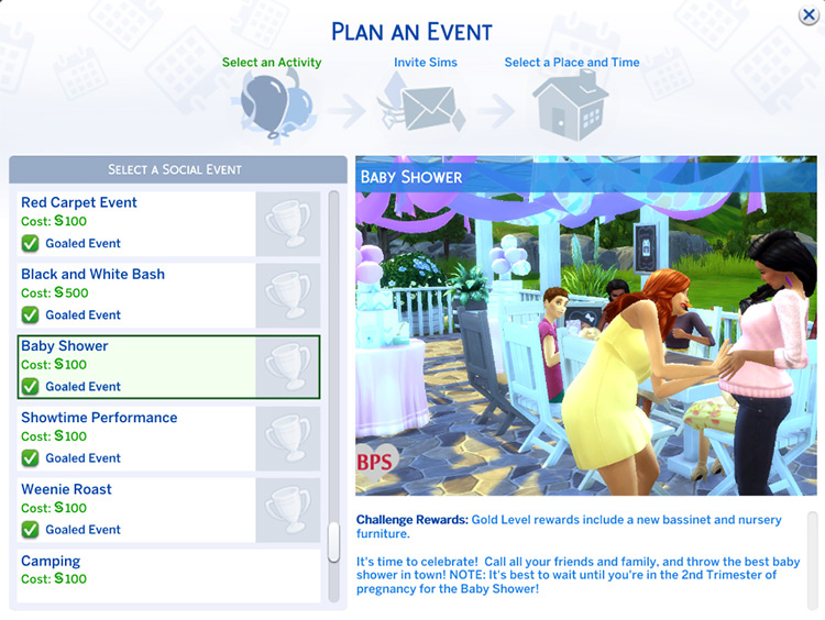 Baby Shower Event Sims 4 CC screenshot