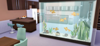 Wall Partition Aquarium Custom CC for The Sims 4