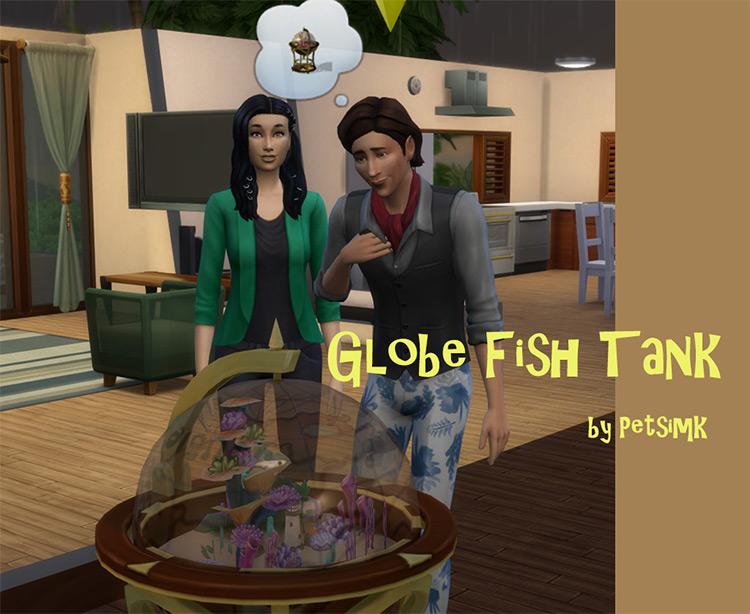 Globe Fish Tank Sims 4 CC
