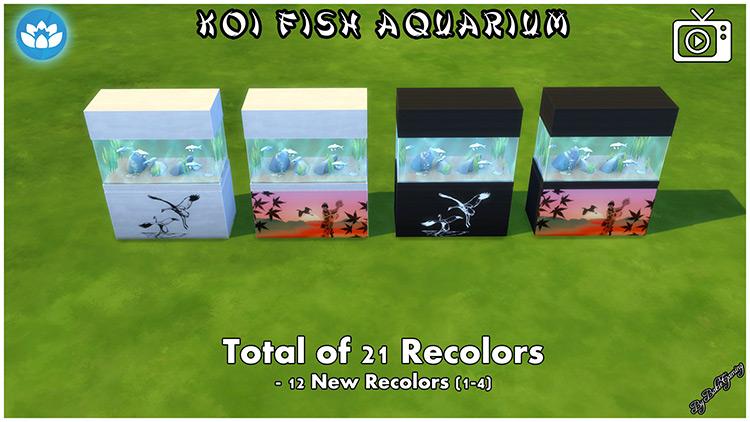 Koi Fish Aquarium Sims 4 CC