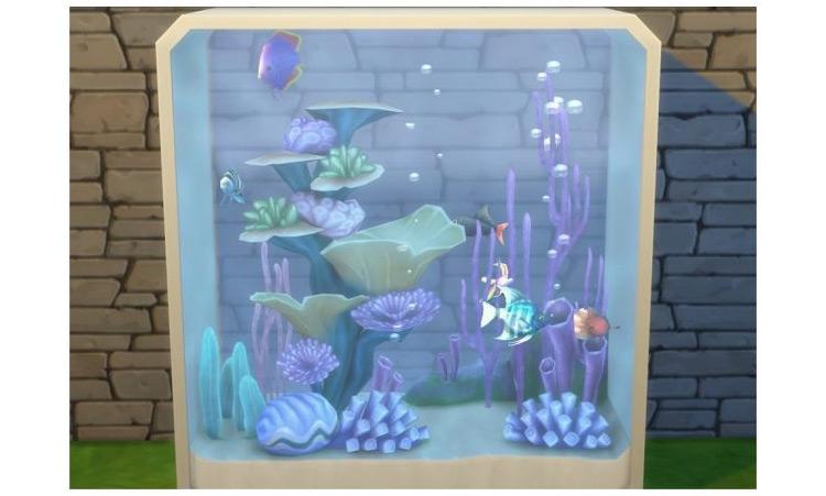 Dine Out 6 Fish Aquarium Sims 4 CC
