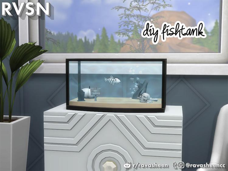 Sofishticated DIY Mini Aquarium Sims 4 CC
