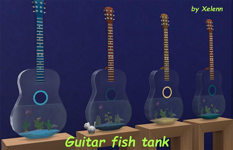 Guitar Fish Tank for Sims 4
