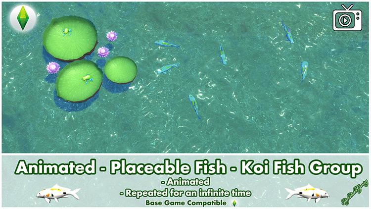 Koi Fish Group for Sims 4