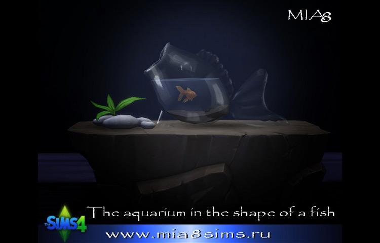 Aquarium in The Shape of a Fish Sims 4 CC