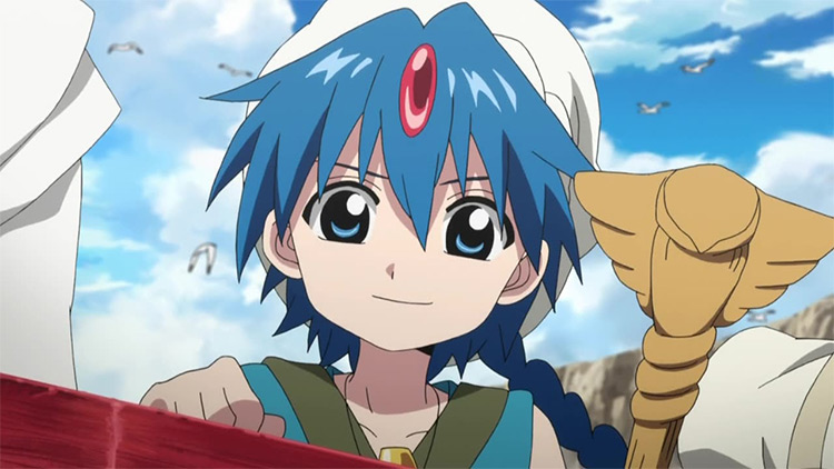 Aladdin del anime Magi: The Labyrinth of Magic