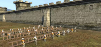 M2TW Storming Castle Wall Factions