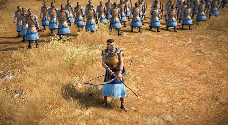 Paris' Trojans Total War Saga: Troy Faction