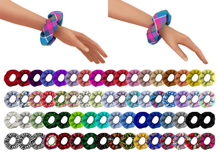 Simschino's Scrunchie on Wrist Pattern Sims 4 CC