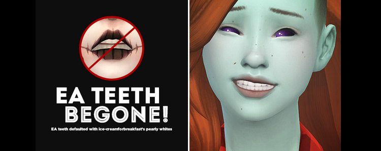EA Teeth Begone! – Default Replacement Teeth by Pyxis Sims 4 CC