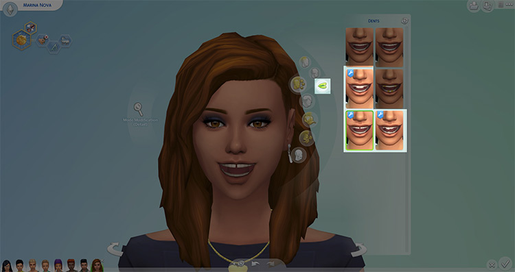 Genetic Teeth for Buck, Gap, and Snaggle by Nova JY for Sims 4