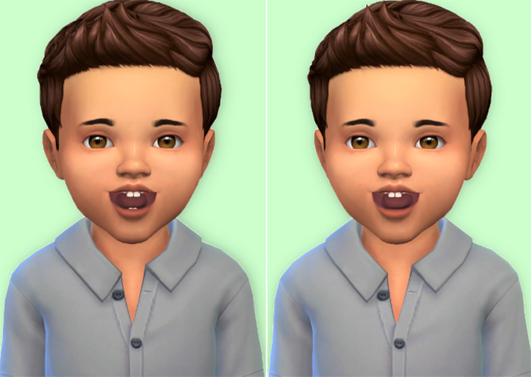 Toddler Teeth by Shysimblr for Sims 4