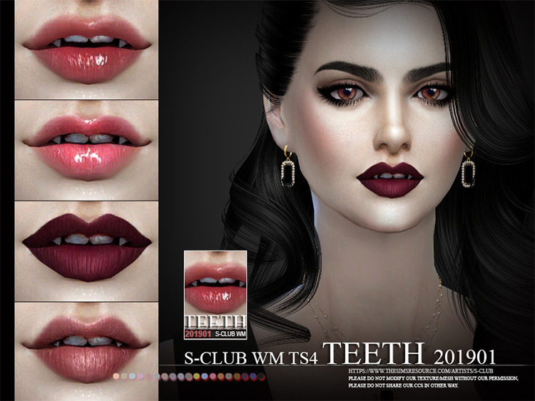 TS4 Teeth 201901 by S-Club screenshot