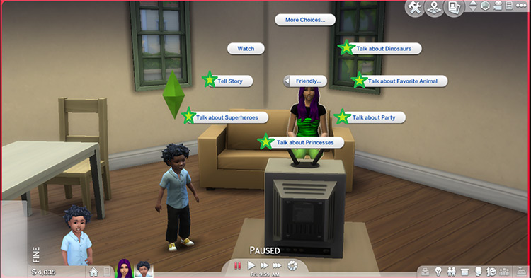 More Autonomous Social Interactions for Toddlers - Sims 4 CC