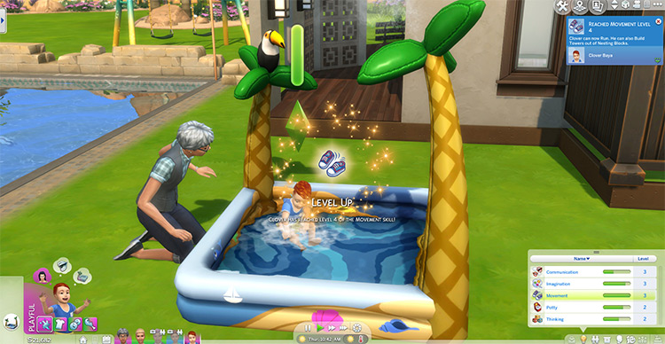 Kiddie Pools Give Movement Skill for Toddlers by Evvi Sims 4 CC