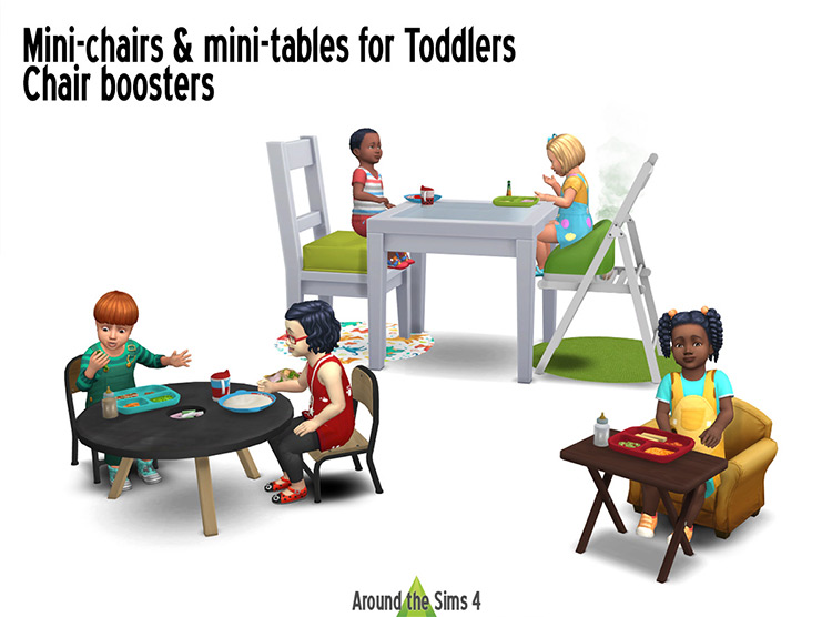Mini-Chairs & Mini-Tables for Toddlers for Sims 4
