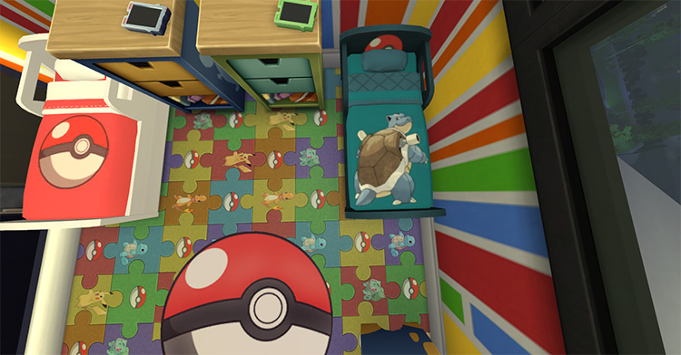 Pokémon Toddler Bed by NicoletteAunreel Sims 4 CC