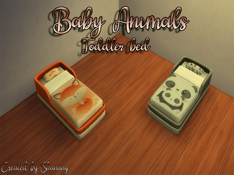 Baby Animals Toddler Beds by Shanany Sims 4 CC