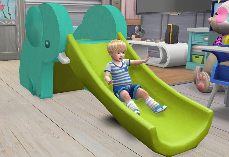 Elephant Slide for kids - Sims 4 CC
