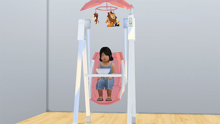 Solace Baby Swing – TS3 to TS4 by chic4house CC screenshot
