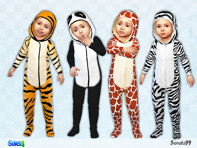 S77 Toddler 02 Funny Animal Onesies by Sonata77 Sims 4 CC