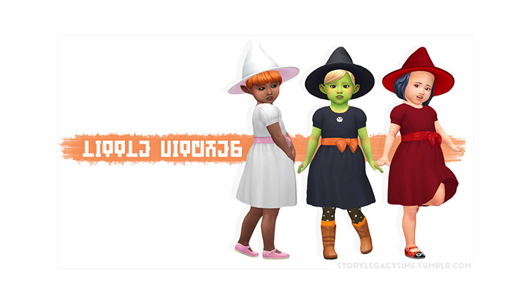 Little Witches by StoryLegacySims Sims 4 CC