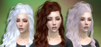 Strong Wavy Girls Hair CC for TS4
