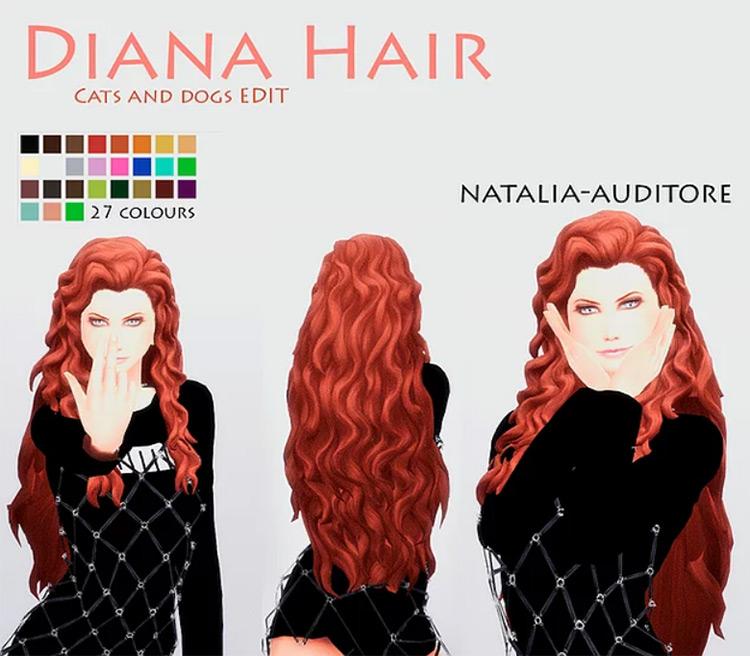 Natalia-Auditore's Diana Hair Sims 4 CC