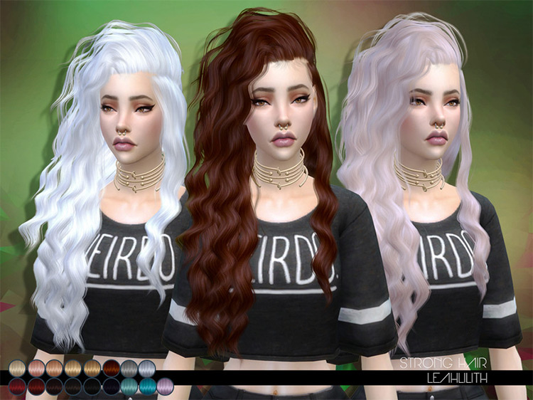LeahLillith's Strong Hair for Sims 4