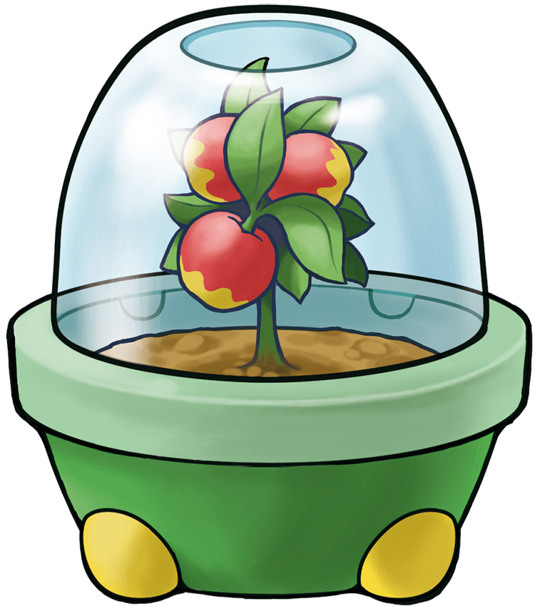 Berry Pot with Leppa Berries - Pokemon Artwork
