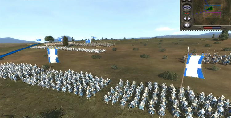 Dismounted Noble Knights in Medieval II: Total War