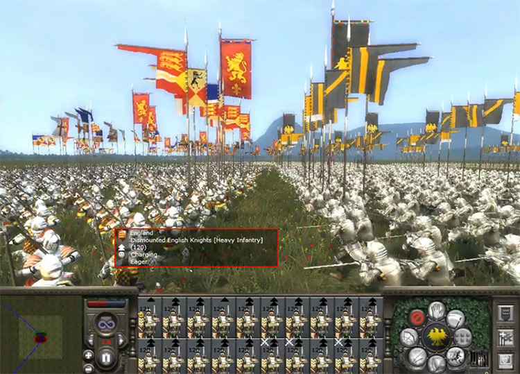 Dismounted English Knights in Medieval 2: Total War