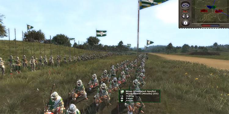 Musketeers Unit in Medieval 2: Total War